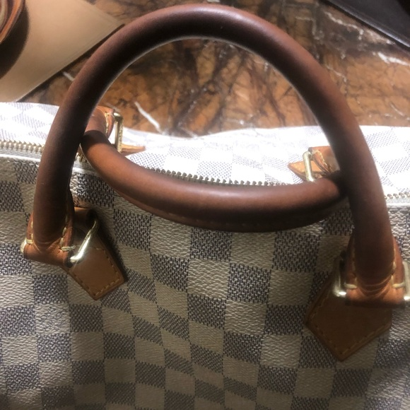 Louis Vuitton Handbags - WHITE LOUIS VUITTON SPEEDY 30 DAMIER HANDBAG